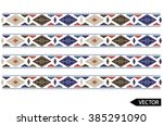 ethnic embroidery border designs | Shutterstock .eps vector #385291090