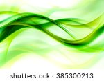 awesome abstract green wave...   Shutterstock . vector #385300213