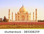 taj mahal in agra  uttar... | Shutterstock . vector #385308259