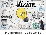 vision creative ideas design... | Shutterstock . vector #385313458
