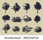 vector illustration of trees... | Shutterstock .eps vector #385336516