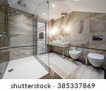 luxury bathroom | Shutterstock . vector #385337869
