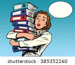 the girl accountant annual... | Shutterstock .eps vector #385352260