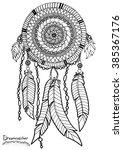 dreamcatcher. a4 size. pattern... | Shutterstock .eps vector #385367176