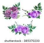 Watercolor Purple Roses...