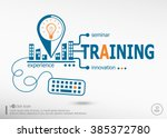 training and marketing concept. ... | Shutterstock .eps vector #385372780
