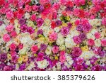 Stock photo beautiful flowers background for wedding scene 385379626