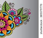 doodle vector illustration... | Shutterstock .eps vector #385379770