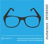 glasses vector icon. simple... | Shutterstock .eps vector #385383460