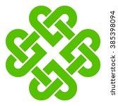 4 leaf clover shaped knot ... | Shutterstock .eps vector #385398094