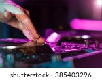 dj sound equipment at... | Shutterstock . vector #385403296