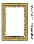 golden picture frame isolated... | Shutterstock . vector #385404928