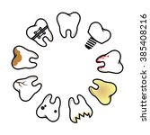 vector set of pathological...   Shutterstock .eps vector #385408216