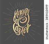 golden holiday illustration ... | Shutterstock .eps vector #385410499