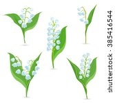 spring collection of tiny...   Shutterstock .eps vector #385416544
