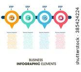 business infographics vector... | Shutterstock .eps vector #385424224