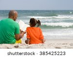father and daughter reading | Shutterstock . vector #385425223