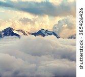 scenic alpine landscape with... | Shutterstock . vector #385426426