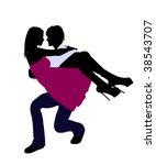 a couple silhouette...   Shutterstock . vector #38543707