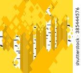 seamless bright autumn birch... | Shutterstock .eps vector #385444576