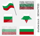 bulgaria flags made in... | Shutterstock .eps vector #385447930