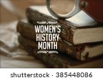 women's history month photo... | Shutterstock . vector #385448086