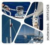 Постер, плакат: Sailing photo collage Sailing