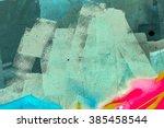 beautiful street art graffiti....   Shutterstock . vector #385458544