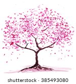 abstract flowering tree.... | Shutterstock . vector #385493080