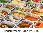 separate portions of different... | Shutterstock . vector #385493848