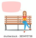 Young Woman Reading Book On Th...