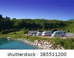 camping in switzerland | Shutterstock . vector #385511200