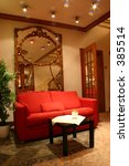 hotel lobby with red sofa and... | Shutterstock . vector #385514