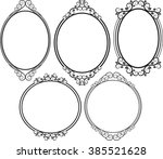 set of isolated antique frames | Shutterstock .eps vector #385521628
