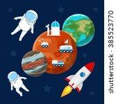 vector image.  space landscape. ... | Shutterstock .eps vector #385523770