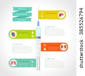 medical infographic set. vector ... | Shutterstock .eps vector #385526794