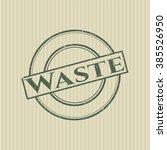 waste rubber stamp | Shutterstock .eps vector #385526950