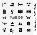 set of travel icon | Shutterstock . vector #385529044