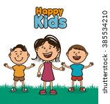 happy kids design  | Shutterstock .eps vector #385534210