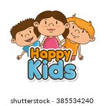 happy kids design  | Shutterstock .eps vector #385534240