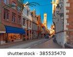 scenic cityscape with a... | Shutterstock . vector #385535470
