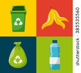 waste concept design  | Shutterstock .eps vector #385535560