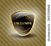 exclusive gold badge or emblem | Shutterstock .eps vector #385539868