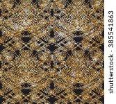 doodle dash line gold pattern... | Shutterstock .eps vector #385541863