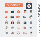 shopping  icons | Shutterstock .eps vector #385544566