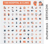 hospital clinic icons  | Shutterstock .eps vector #385545244
