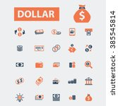dollar icons  | Shutterstock .eps vector #385545814