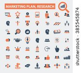 marketing plan  research icons  | Shutterstock .eps vector #385545874