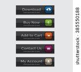 elegant web buttons set  easy... | Shutterstock .eps vector #385550188