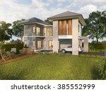 3d rendering beautiful green... | Shutterstock . vector #385552999